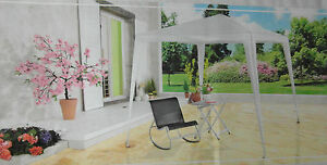Garten Pavillon 300 x 300 cm , Farbe grau weiss,  NEU,OVP