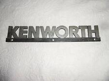 "GENUINE KENWORTH TRUCK 14"" EMBLEM METAL NAME PLATE ~ FREE SHIPPING"