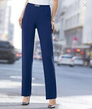 New Womens Navy Milano Smart Pull On Trousers From Damart Size 24