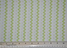 1/2 yard cotton quilt fabric Chevron green with dots home decor crafting