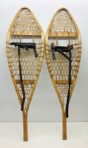 """Antique Vintage 11"""" X 41"""" Snowshoes Usable or Decor - Free Shipping"""