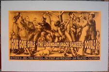 ORIGINAL 2005 GORE GORE GIRLS SAN FRANCISCO SILKSCREEN POSTER CHUCK SPERRY JC32