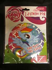 """MY LITTLE PONY JUMBO PIN Button The Best Day Ever Rainbow Dash Free US Ship 6"""""""
