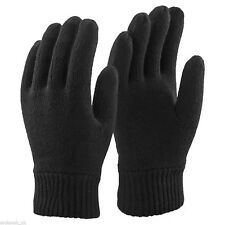 1 Pair Mens Thinsulate 3M Lined Thermal Winter Gloves Black - Medium/Large