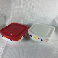 2 Vintage Wonder Bread Sandwich Container Plastic, A Aronson Interstate Brands