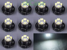 10x White T5/T4.7 Neo Wedge LED Bulb SMD Cluster Instrument Dash Base Lights 12V