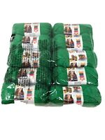 LION brand yarn LOT 10 Skein NEW! sealed Green  650 Yards Total MSRP $45