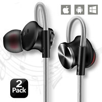 In-Ear High Definition Wired Noise Isolating Headset Earbuds Headphones (2 pack)