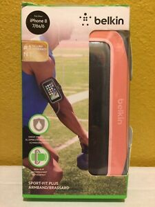 Belkin Sport-Fit Plus Armband for iPhone 8/7/6s/6 Pink Non-Slip 9.5-15in NEW