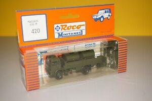 RF8/18] Roco Mini Tank 420 Magirus 168M 1:87 Boxed