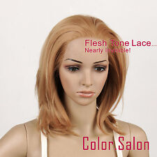 Hand-Tied Flesh Lace Front Synthetic Wigs Glueless Mixed Blonde 97#27F613 (F)