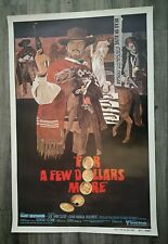 For a Few Dollars More 1980. Original Us One Sheet Movie Poster.