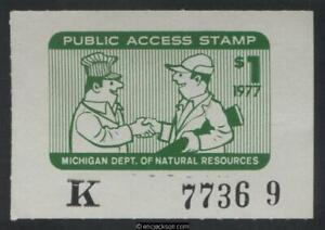 MICHIGAN Public Access Wooton 1 mint, NH, VF