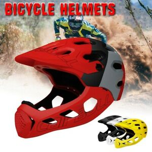 Mens Adult Cycling Bicycle Helmet Full Face Safety MTB Mountain Road Downhill