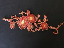 Sew on & iron on  patches(maroon embroidered flower)