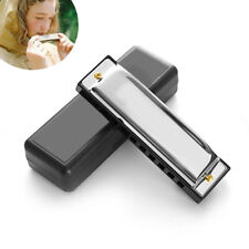 More details for new silver harmonica mouth organ 10 hole key of c for blues rock jazz folk toy