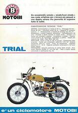 "Motobi Pesaro - Volantino (Sheet) ""Trial"" - 49 cc. Ciclomotore  primi anni 60"