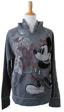 Vintage Authentic Walt Disney World Mickey Mouse Gray Printed Hoody L
