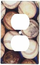 Art Plates - Old Baseballs Switch Plate - Outlet Cover