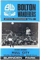 Bolton Wanderers v Hull City 1976/7