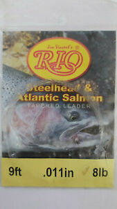 "RIO "" Steelhead & atlantic salmon ""  9ft .011in  8lb Knotless Tapered Leader"