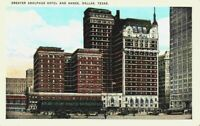 Greater Adolphus Hotel Annex Street View Dallas TX Texas 1910's 1920's Postcard