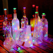 1pc LED Solar Fairy String Lights Wine Bottle Copper Cork Wire Lamp Party Xmas