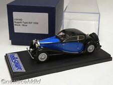 BUGATTI TYPE 50T 1930 BLACK/BLUE LOOKSMART MODELS 1/43 #LS416D