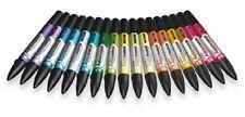 LETRASET Single AQUAMARKER TWIN TIP PEN Pens Choose ur colour Waterbased