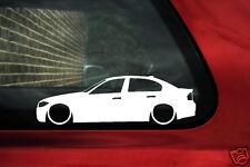 2x Lowered car outline stickers - for Bmw e90, 3 series 320i, 318i,330i,335i low