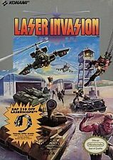 Laser Invasion (Nintendo Entertainment System, 1991) GAME ONLY WORKS WELL NES HQ