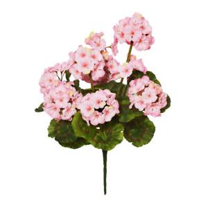 Large Artificial Geranium Flower Bush - Pink or Red