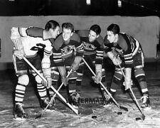 NHL 1945 Chicago Black Hawks Pony Line Mosienko & Bentley Bothers  8 X 10 Photo