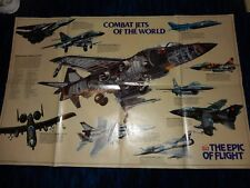 Time Life Books The Epic Of Flight 28x34 Poster Harrier A10 Military Combat Jets