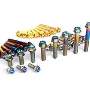 4pcs M8 Titanium Bolts Screws Flange Hex Head x 15/20/25/30/35/40/45/50/55/60mm