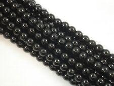 Gemstone Beads Black Onyx 8mm Round Beads 35cm Strand Semi Precious FREE POSTAGE