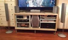 PANASONIC SA-HT920 Home Theater Receiver 5 disc DVD Player + Speakers Sound Gray