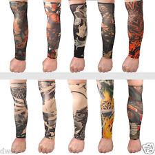 Temporary Fake Tattoo Slip On Stretch Seamless Arm Sleeves Stockings Cool Men