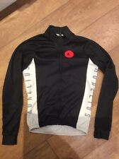 Aurelius Black ZipFront Long Sleeve Cycle Top Jersey Used Size S See Description