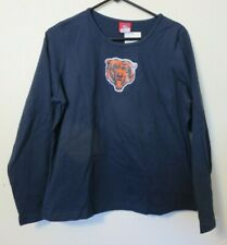 NFL for Her Chicago Bears long sleeve T shirt navy blue XL NEW NWT