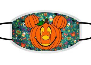 Disney Halloween Face Mask. Mickey Mouse PumpKin Head. Kids Mask. Adult Mask Grn