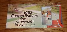 1962 Chevrolet Truck Custom Features Accessories Sales Brochure 62 Chevy Pickup