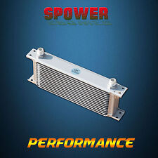 Universal 15 Row AN10 Engine Transmission 248MM Oil Cooler Mocal Style Silver