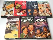 ABBOTT & COSTELLO Universal Monster Movies VHS Complete Set Frankenstein Mummy +