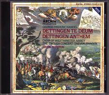 HANDEL Dettingen Te Deum Anthem Simon Preston Trevor Pinnock Harry Christophers