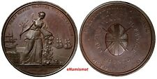 FRANCE and GREAT BRITAIN Bronze 1801 PEACE MEDAL Treaty of Amiens 38 mm XF-AU