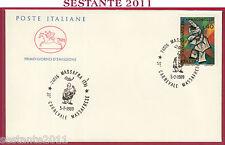 ITALIA FDC CAVALLINO CARNEVALE MASSAFRESE 1989 MASSAFRA TA U515