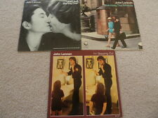 John Lennon The Beatles 45 RPM Picture Sleeves Lot of 3 Watching the Wheels