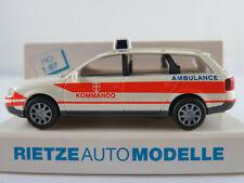 """Rietze 50934 Audi A6 Avant (1998) """"Ambulance / Kommando (A)"""" 1:87/H0 NEU/OVP"""