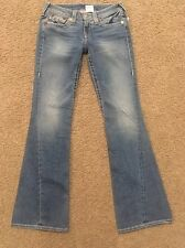 TRUE RELIGION RAINBOW JOEY DIstressed WOMENS Jeans SIZE 27 X 34 NWT $262